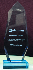 Eco-System Partners  in recognition of our contribution to G Element G7 Solution Day 2014.